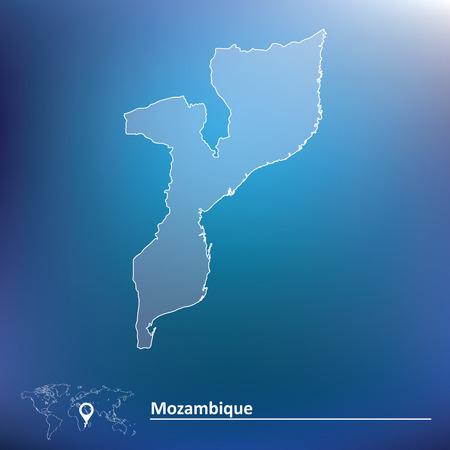 mozambique: Map of Mozambique - vector illustration