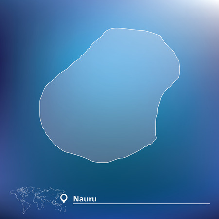 nauru: Map of Nauru - vector illustration