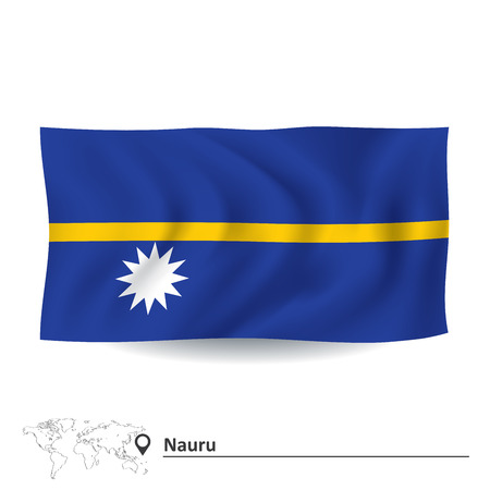 nauru: Flag of Nauru - vector illustration Illustration