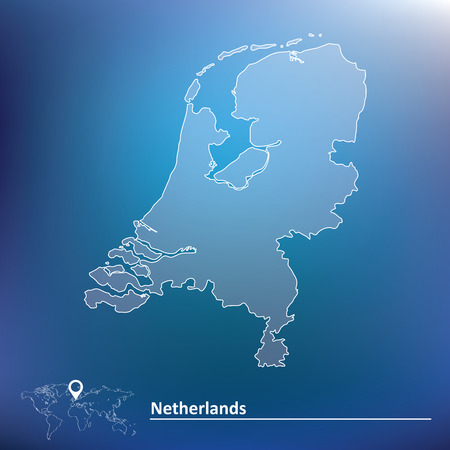 Map of Netherlands - vector illustration Vector