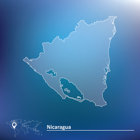 toltec: Map of Nicaragua - vector illustration Illustration