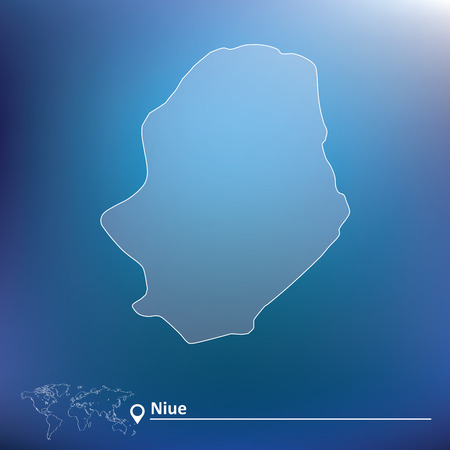 niue: Map of Niue - vector illustration Illustration