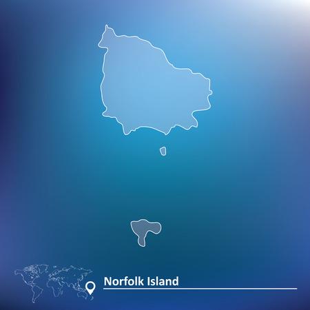 Map of Norfolk Island - vector illustration Vector