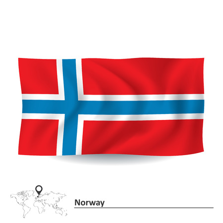 norway flag: Flag of Norway - vector illustration Illustration