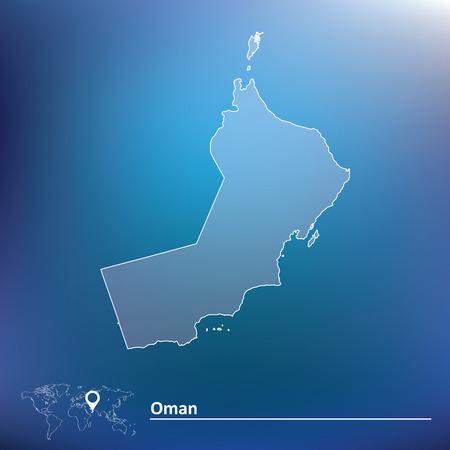 southwest asia: Map of Oman - vector illustration Illustration