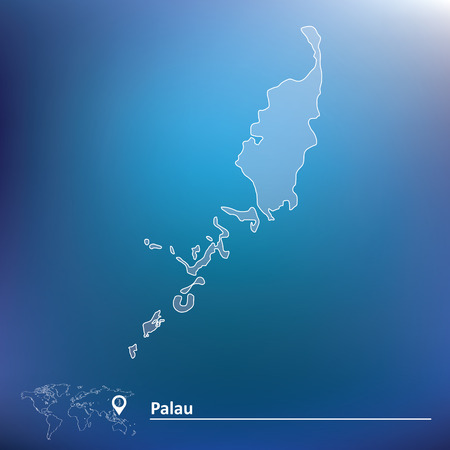 palau: Map of Palau - vector illustration