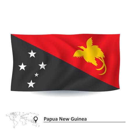papouasie: Drapeau de la Papouasie-Nouvelle-Guin�e - illustration vectorielle