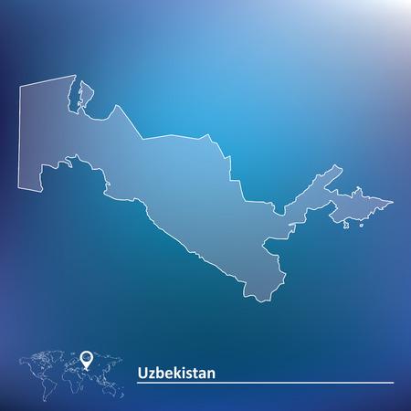 uzbekistan: Map of Uzbekistan - vector illustration