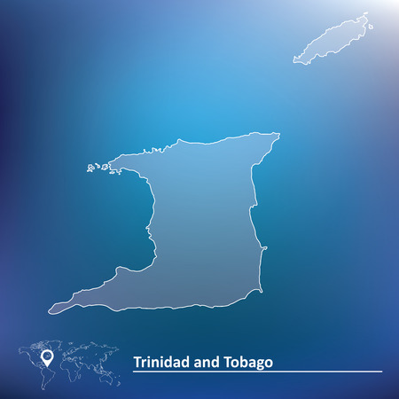 trinidadian: Map of Trinidad and Tobago - vector illustration