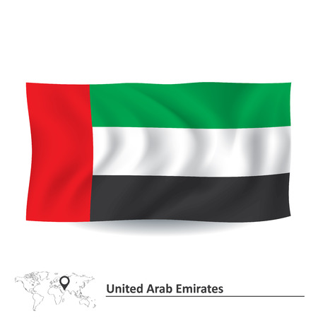 graphical chart: Flag of United Arab Emirates - vector illustration