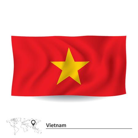 indochina peninsula: Flag of Vietnam - vector illustration