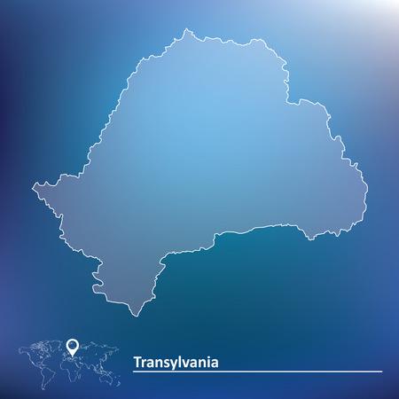 transylvania: Map of Transylvania - vector illustration