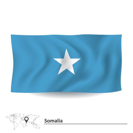 Flag of Somalia - vector illustration Vector