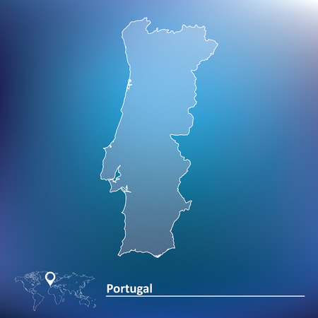 portugese: Map of Portugal - vector illustration Illustration