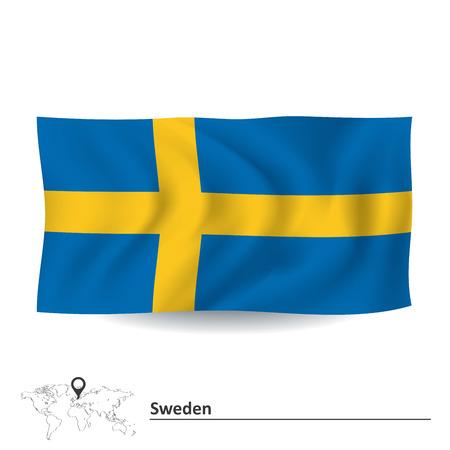 Flag of Sweden - vector illustration Vector