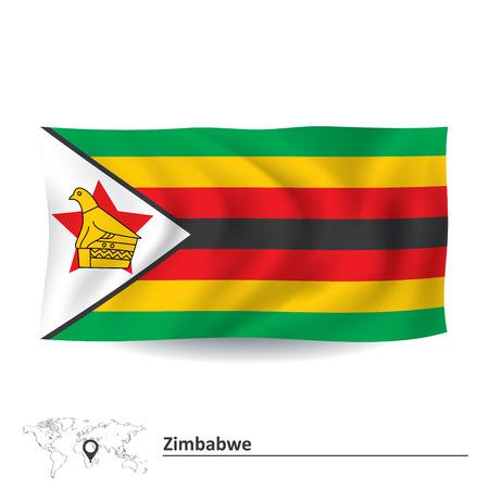 zimbabwe: Flag of Zimbabwe - vector illustration