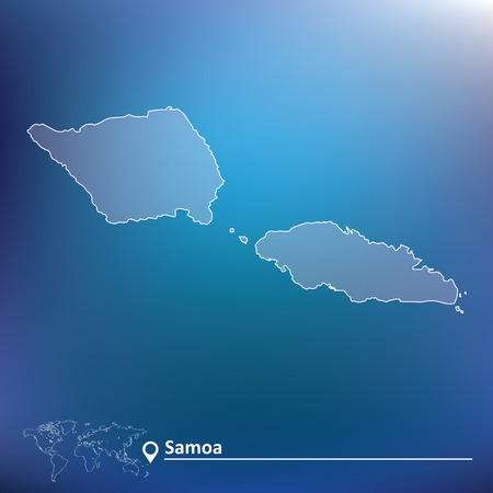 pentacle: Map of Samoa - vector illustration