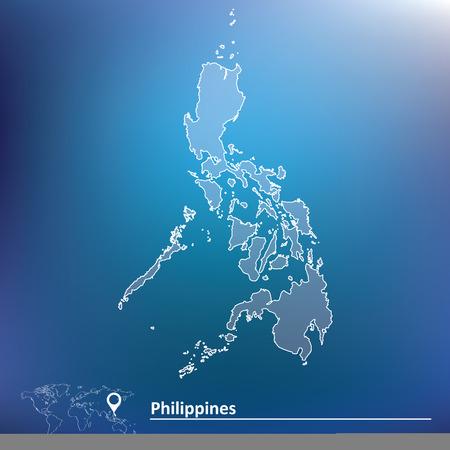 filipino: Map of Philippines - vector illustration Illustration