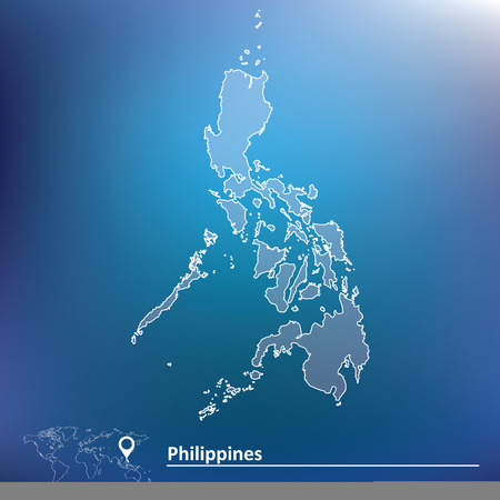 Map of Philippines - vector illustration