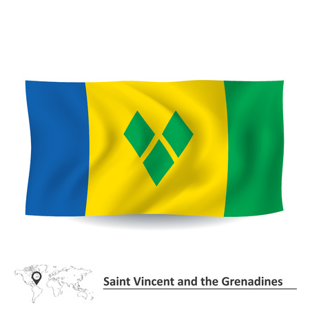 Flag of Saint Vincent and Grenadines - vector illustration Vector