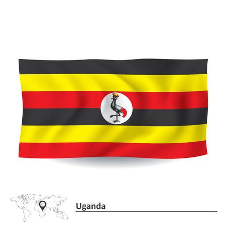 uganda: Flag of Uganda - vector illustration