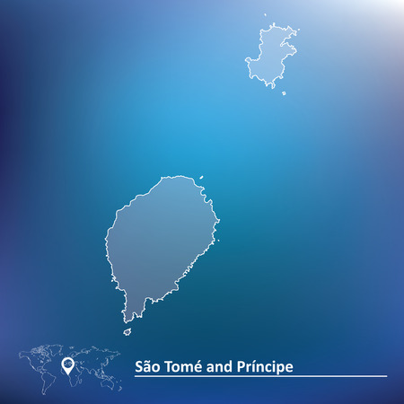 tome: Map of Sao Tome and Principe - vector illustration