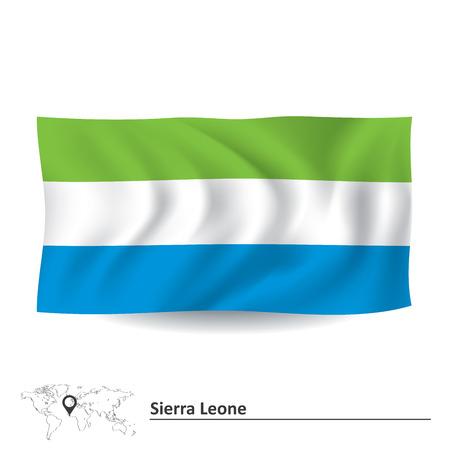 sierra: Flag of Sierra Leone - vector illustration