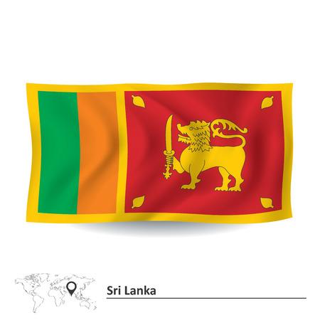lanka: Flag of Sri Lanka - vector illustration