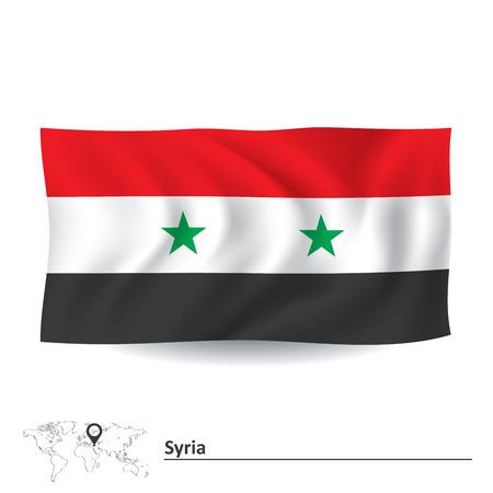 syria: Flag of Syria - vector illustration Illustration