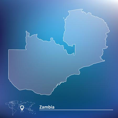 zambia: Map of Zambia - vector illustration Illustration