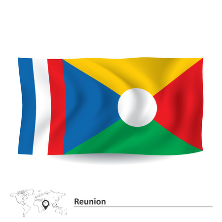 reunion: Flag of Reunion - vector illustration Illustration