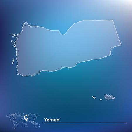 yemen: Map of Yemen - vector illustration
