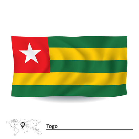 Flag of Togo - vector illustration Vector