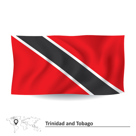 trinidadian: Flag of Trinidad and Tobago - vector illustration