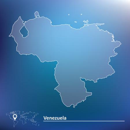venezuelan: Mapa de Venezuela - ilustraci�n vectorial