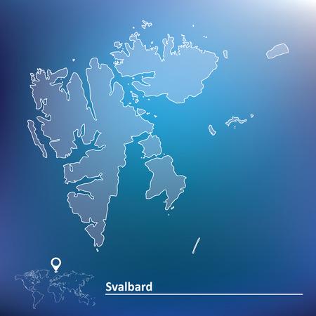 Map of Svalbard - vector illustration Vector