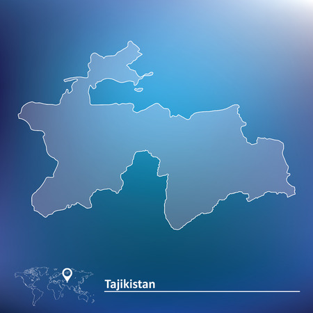 tajikistan: Map of Tajikistan - vector illustration Illustration