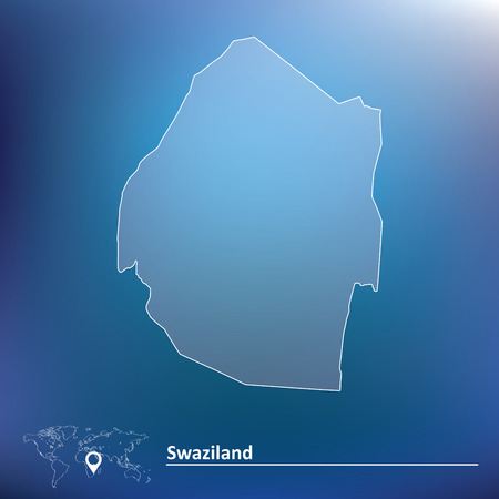 swaziland: Map of Swaziland - vector illustration