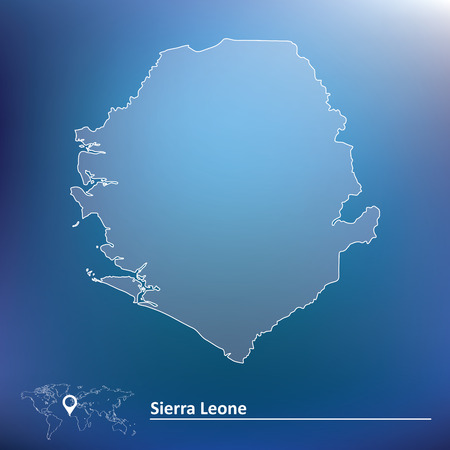 sierra: Map of Sierra Leone - vector illustration