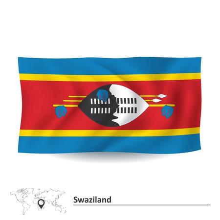 swaziland: Flag of Swaziland - vector illustration Illustration