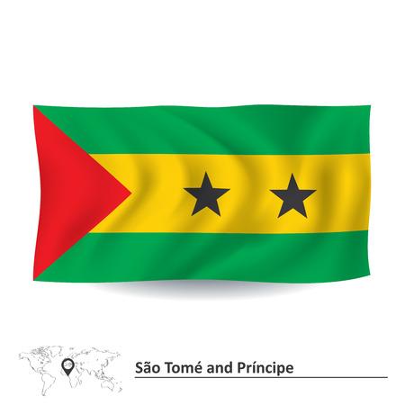 principe: Bandera de Santo Tom� y Pr�ncipe - ilustraci�n vectorial