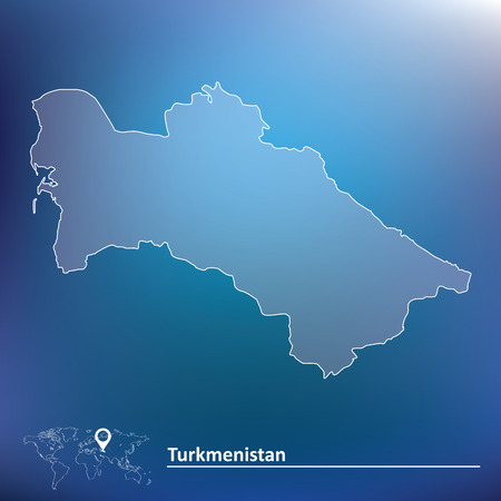 turkmenistan: Map of Turkmenistan - vector illustration