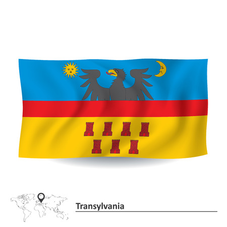 transylvania: Flag of Transylvania - vector illustration