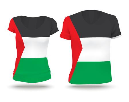 Flag shirt design of Gaza Strip - vector illustration
