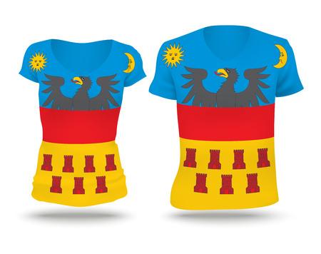 transylvania: Flag shirt design of Transylvania - vector illustration Illustration