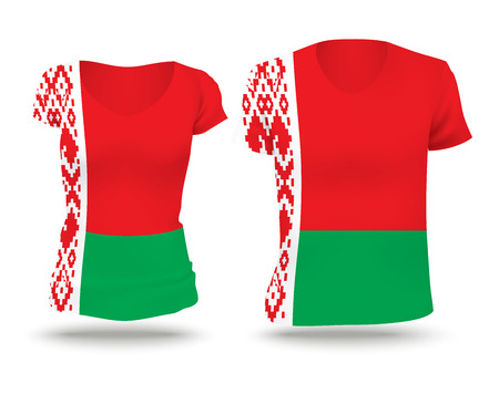strip shirt: Flag shirt design of Belarus - vector illustration Illustration