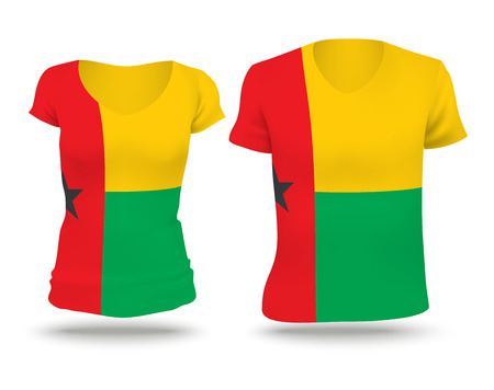 strip shirt: Flag shirt design of Guinea-Bissau - vector illustration Illustration