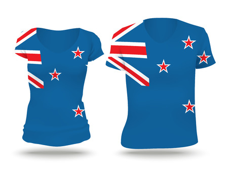 strip shirt: Flag shirt design of New Zealand - vector illustration Illustration