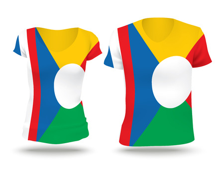 reunion: Flag shirt design of Reunion - vector illustration