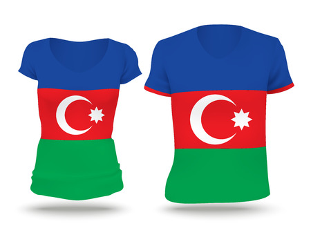 strip shirt: Flag shirt design of Azerbaijan - vector illustration Illustration